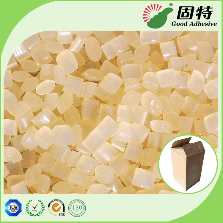 Corrugated Box Eva Based Hot Melt Adhesive , Yellow Pressure Sensitive Glue