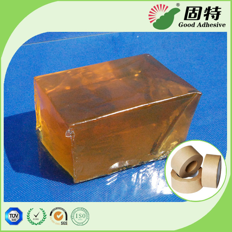 Yellowish Semi Transparent Block Hot Melt Adhesive Tape For Industrial Kraft Paper
