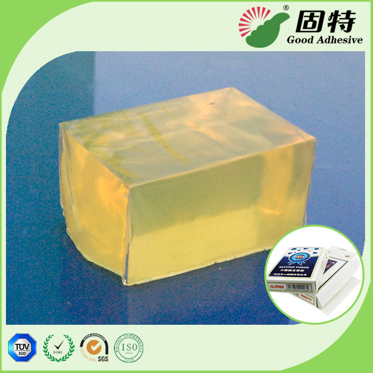 Playing Cards Box High Strength Hot Melt Glue Adhesive Packaging Semi Yellowish Transparent