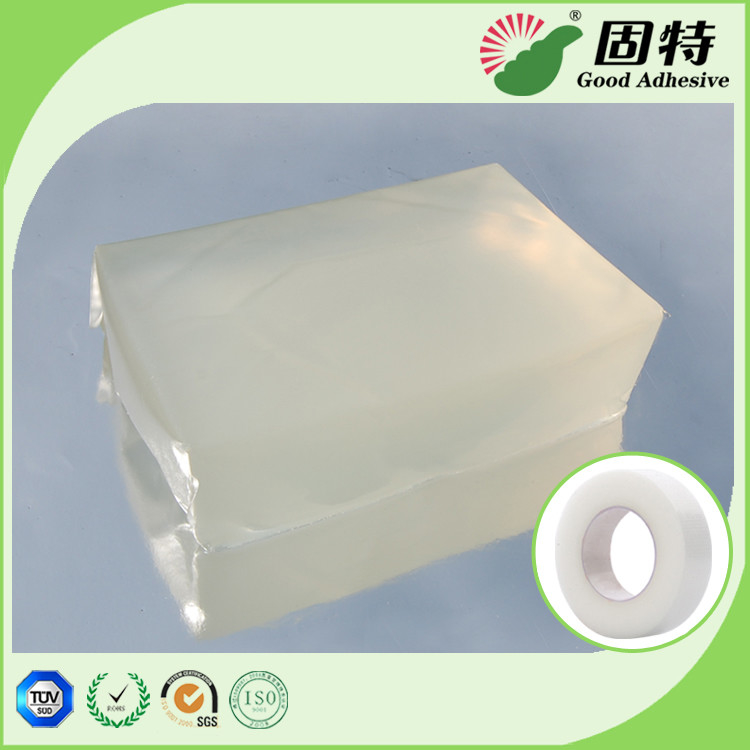 Colorless Transparent PSA Hot Melt Adhesive Block For Medical Tape Plaster