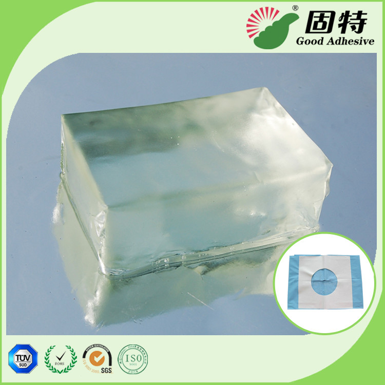 Colorless Block PSA Hot Melt Adhesive For Baby Paper Diaper Sanitary Mat